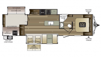 2017 Cougar Xlite 34TSB Floor Plan