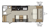 2017 Passport Express 195RB Floor Plan