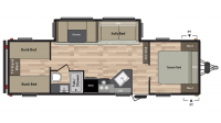 2019 Summerland 2980BH Floor Plan