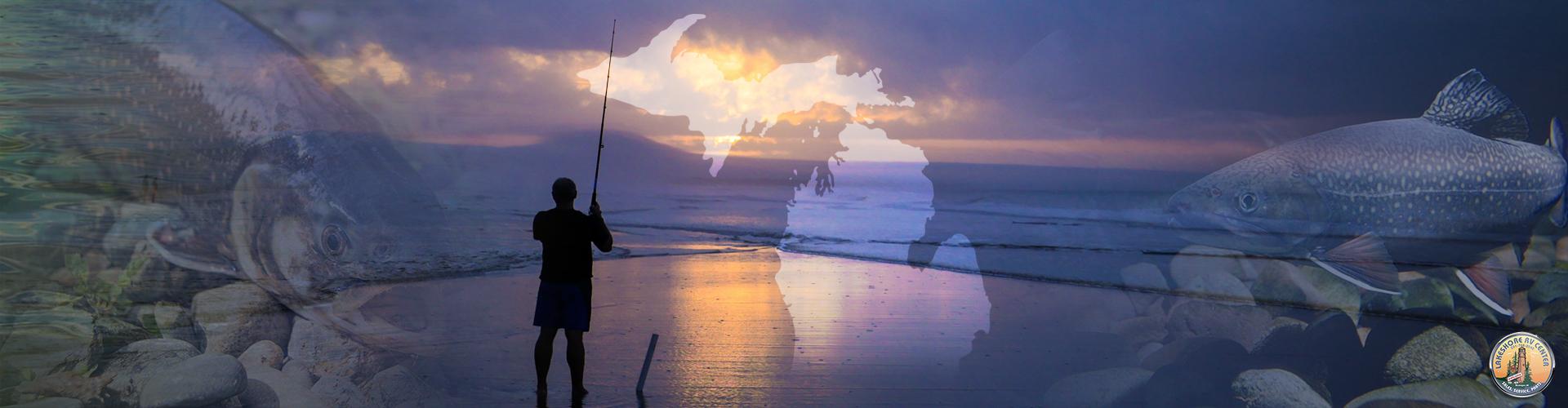 top fishing banner