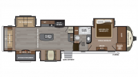 2018 Montana 3660RL Floor Plan