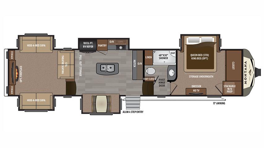 Montana 5th wheel floor plans 2017 thefloors co for Keystone homes floor plans