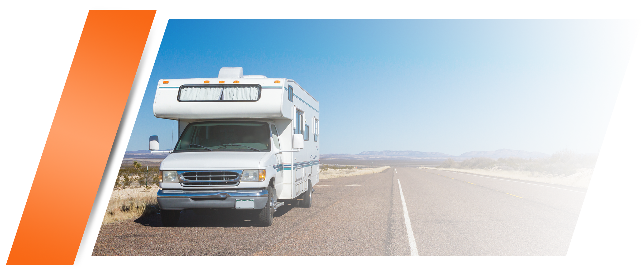 RV pulled on side of road