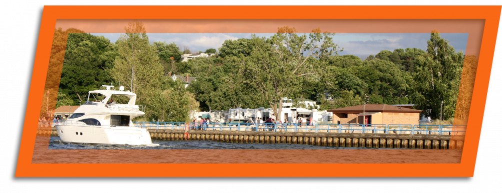 Go on a boat ride during your visit to Grand Haven State park located on lake Michigan