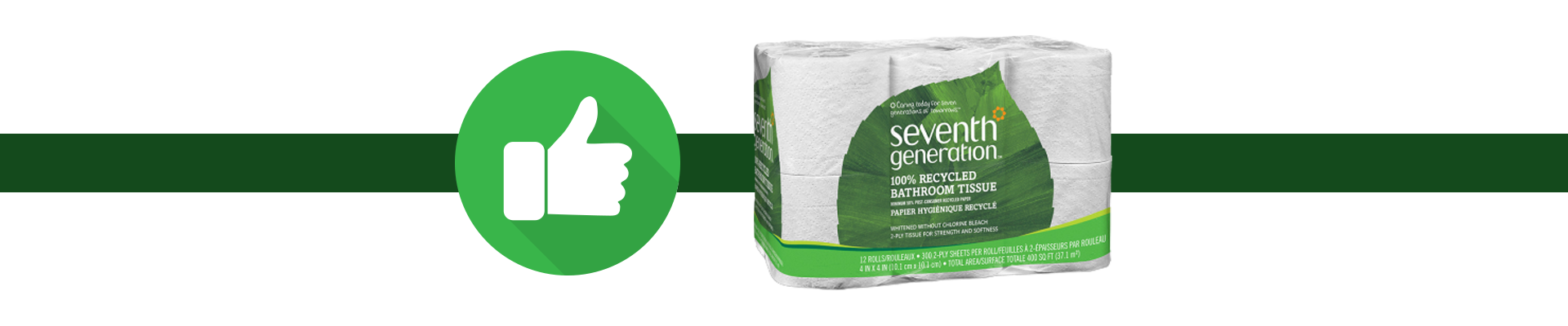 Thumbs up to disolving toilet paper like seventh generation
