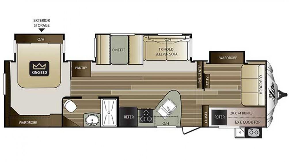 2016 Cougar Xlite 32fbs Floor Plan
