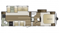 2017 Cougar Xlite 27RKS Floor Plan