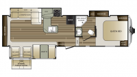 2017 Cougar Xlite 29RES Floor Plan