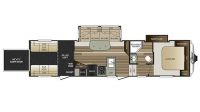 2017 Cougar 326SRX Floor Plan