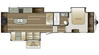 2017 Cougar 341RKI Floor Plan