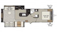 2017 Passport Elite 31RE Floor Plan