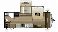 2017 Cougar Xlite 24RBS Floor Plan