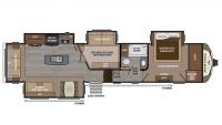 2017 Montana 3950BR Floor Plan