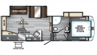 2019 Arctic Wolf 255DRL4 Floor Plan