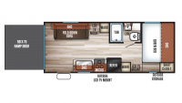 2018 Grey Wolf 19RR Floor Plan