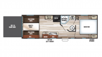 2018 Grey Wolf 22RR Floor Plan