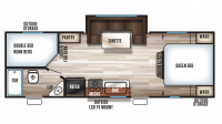 2018 Grey Wolf 23DBH Floor Plan