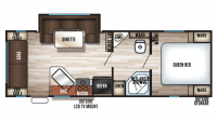 2019 Grey Wolf 23MK Floor Plan