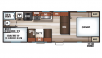 2019 Grey Wolf 26BHSE SPECIAL EDITION Floor Plan
