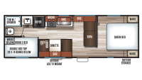 2019 Grey Wolf 26BH Floor Plan