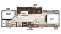 2018 Grey Wolf 26DBH Floor Plan
