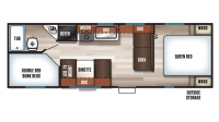 2018 Grey Wolf 26DJSE SPECIAL EDITION Floor Plan