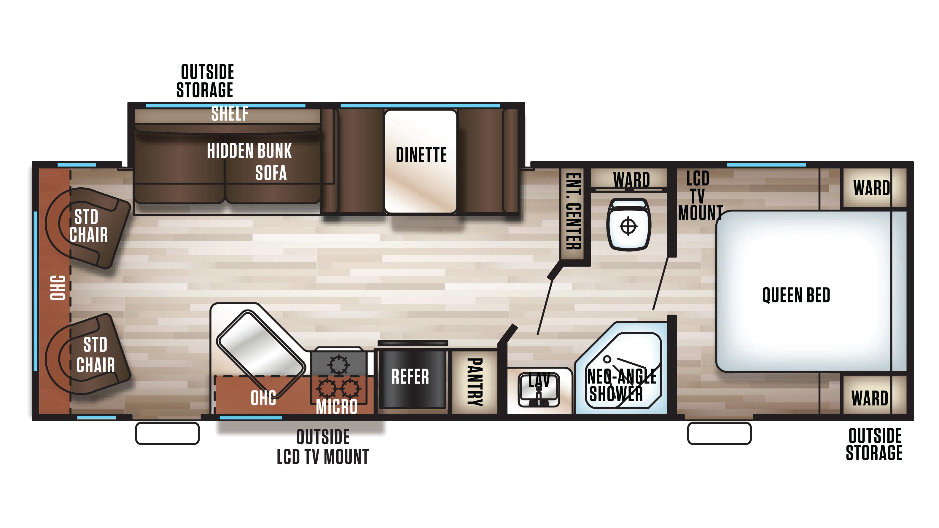 Travel trailer bunkhouse floor plans for Top floor plans