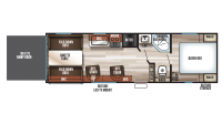 2019 Grey Wolf 26RR Floor Plan