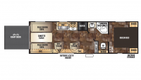 2017 Grey Wolf 26RR Floor Plan