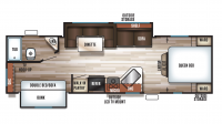 2018 Grey Wolf 27DBS Floor Plan