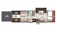 2018 Grey Wolf 27RR Floor Plan