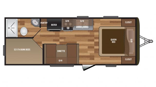 Keystone hideout 2017 212lhs bed fp