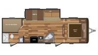 2017 Hideout 272LHS Floor Plan