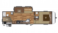2017 Hideout 281DBS Floor Plan
