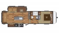2017 Hideout 299RLDS Floor Plan