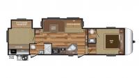 2017 Hideout 308BHDS Floor Plan