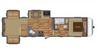 2017 Hideout 315RDTS Floor Plan