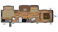 2017 Hideout 31RBDS Floor Plan