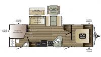2017 Cougar Xlite 29BHS Floor Plan