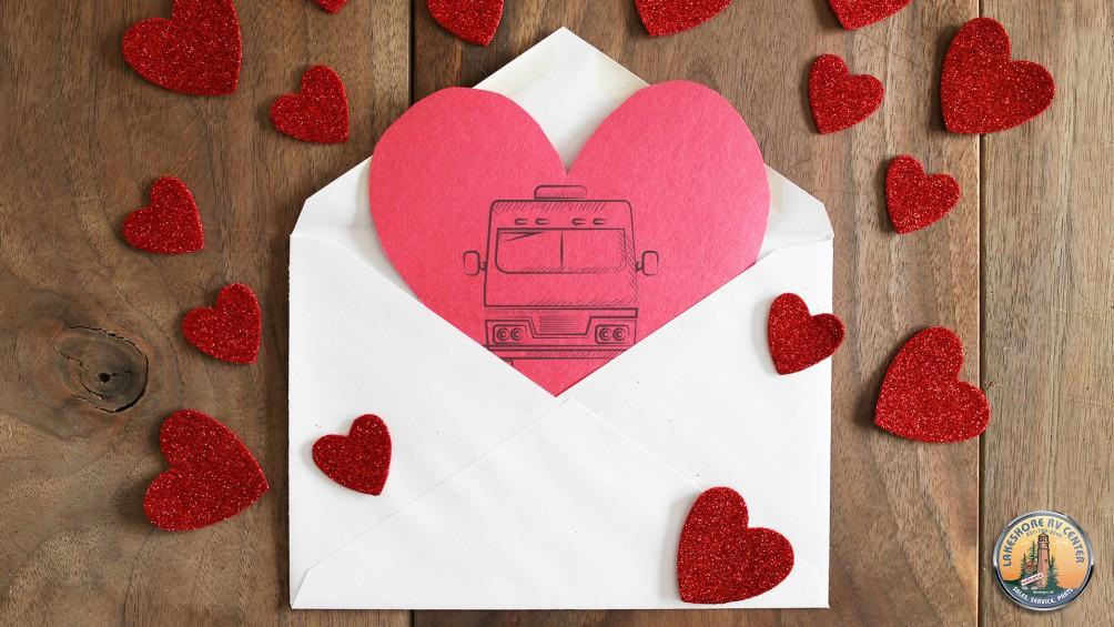RV On Heart Card