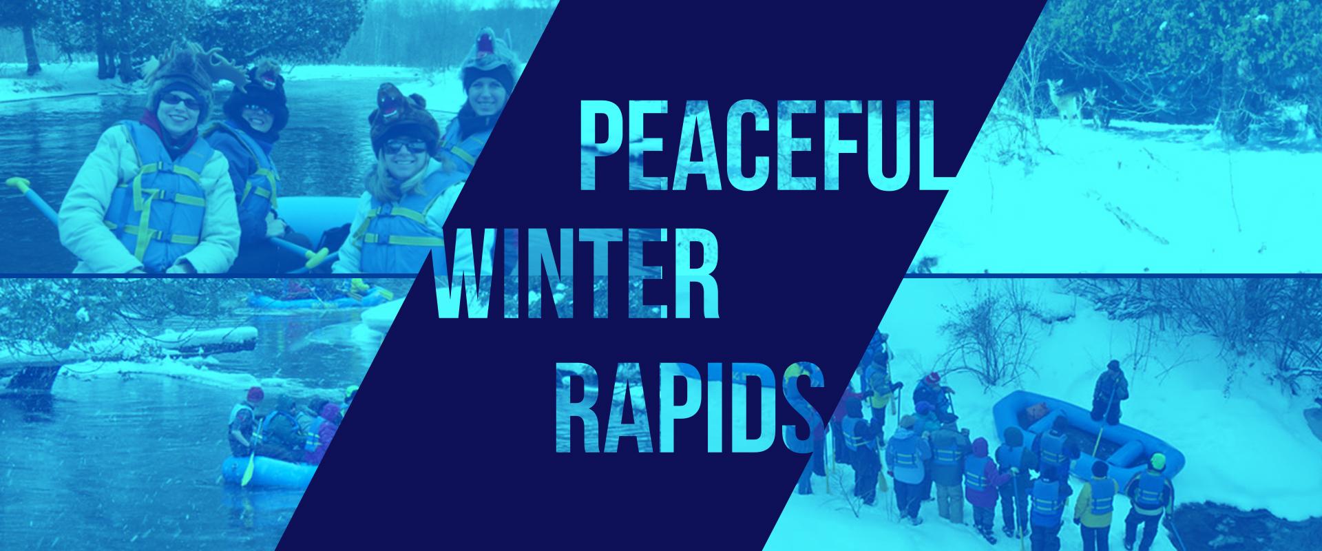 Winter water rafting in Michigan - visit Big Bear Adventures