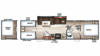 2018 Grey Wolf 29TE Floor Plan