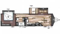 2018 Wildwood DLX 353FLFB Floor Plan