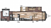 2019 Wildwood DLX 39FDEN Floor Plan