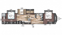 2019 Wildwood DLX 4002Q Floor Plan
