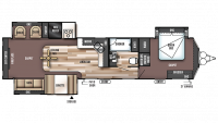 2017 Wildwood DLX 400RETS Floor Plan