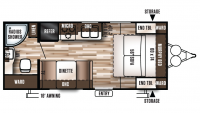 2019 Wildwood X-Lite 171RBXL Floor Plan