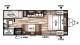 2018 Wildwood X-Lite 201BHXL Floor Plan