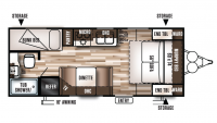 2018 Wildwood X-Lite 201BHXL Floor Plan