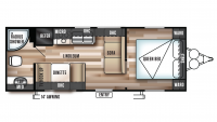 2018 Wildwood X-Lite 241QBXL Floor Plan